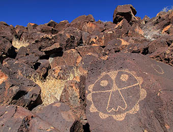 Ancient Native American Petroglyph's at Boca Negra Canyon in Albuquerque
