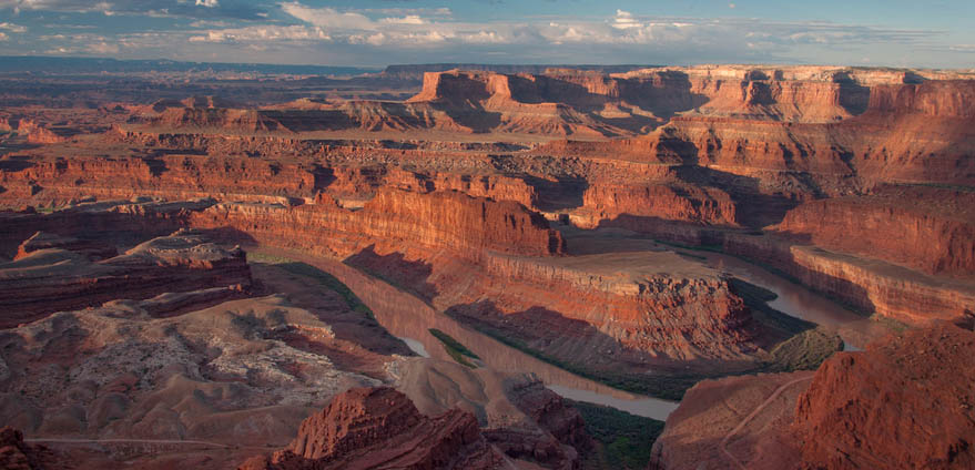 A view of Dead Horse Point State Park and the Colorado River near Moab, Utah