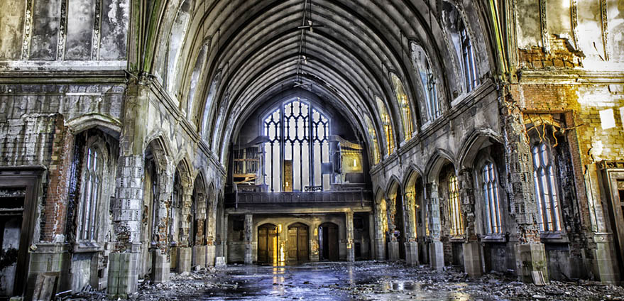 Abandoned St Agnes Church in Detroit Michigan