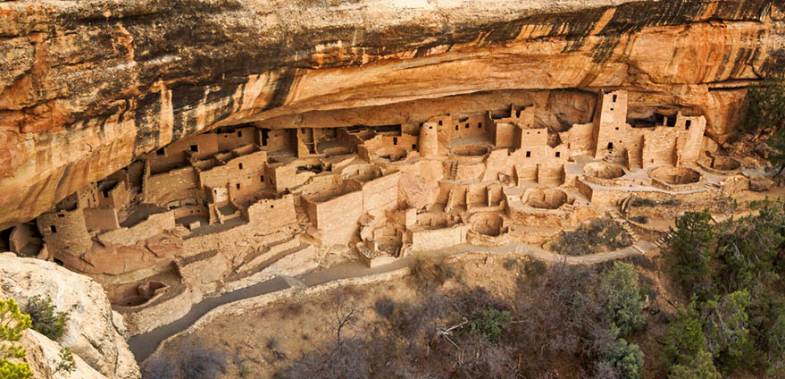 Cliff Palace ruins at Mesa Verde, Colorado, USA