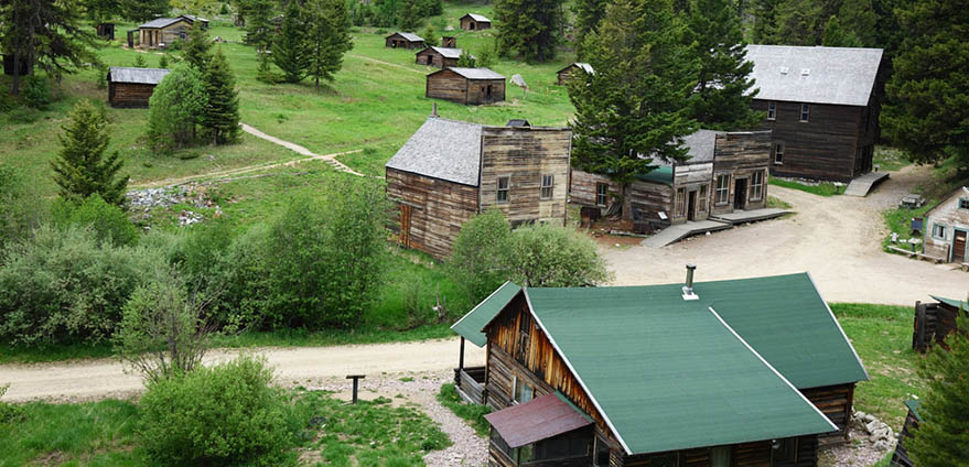Garnet, Montana's most intact ghost town, which was a thriving mining camp during the late 1800s