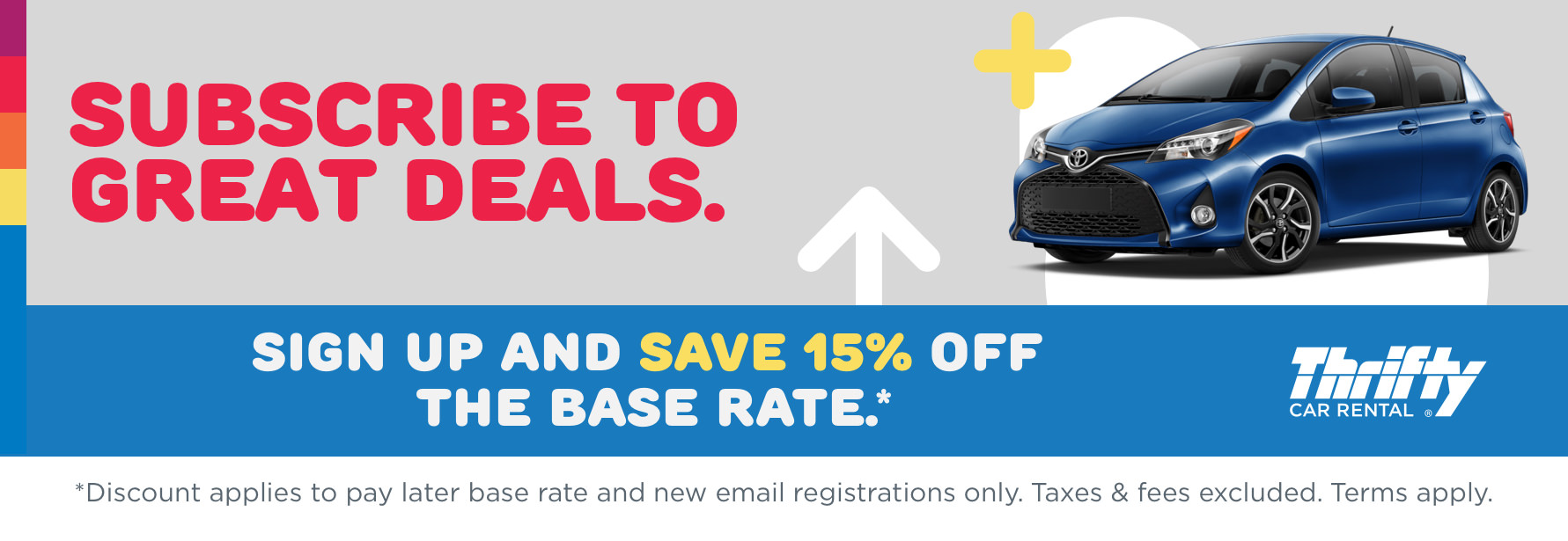 Thrifty Save 15% Off Base Rate